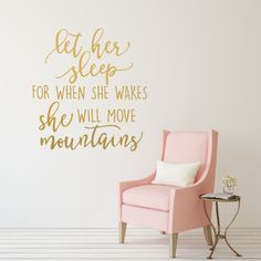 Let Her Sleep For When She Wakes Decal Baby Girl Nursery Wall Decal Girl Wall…