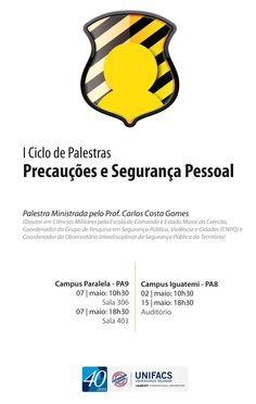 cartaz padrão para ciclo de palestras