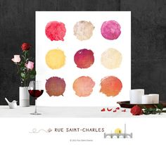 Printable Art Circles Watercolor Printables by RueSaintCharles