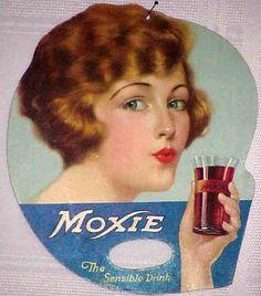 Moxie - Two-sided Cardboard Advertising Fan