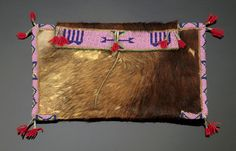 Sioux Hide and Beaded Sewing Bag,