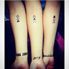 Triple Threat - Super Cute Matching Tattoo Ideas For You and Your Best Friend - Photos