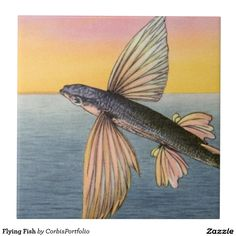Flying Fish Small Square Tile