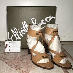 Elliot Lucca heels. Brand new in box. These are genuine Elliot Lucca heels. Brand new and never worn straight out of the box. Very comfy with a chic look and can go with any spring or summer outfit. Elliott Lucca Shoes Heels