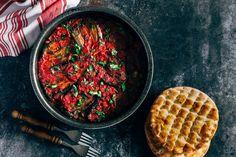 Moroccan Zaalouk - A Wonderfully Zesty Eggplant and Tomato Dip