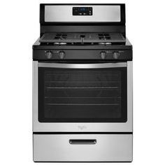 Whirlpool Freestanding 5.1-cu ft Gas Range (Stainless Steel) (Common: 30-in; Actual: 29.88-in) $584 through 10/21 - free delivery