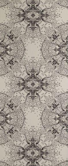 antike spitzentapete vanille von catherine martin von mokum ~ papel pintado antiguo de encaje vanilla by catherine martin by mokum Lace Wallpaper, Pattern Wallpaper, Pattern Recognition, Surface Pattern Design, Pattern Designs, Textiles, Painted Paper, Antique Lace, Beautiful Wall