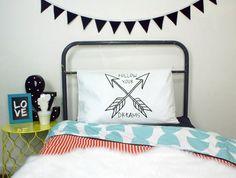 Follow Your Dreams Arrow Pillowcase