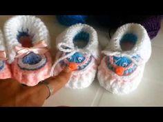 Zapatitos a crochet - YouTube