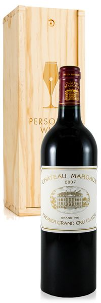 Chateau Margaux & Engraved Wood Box