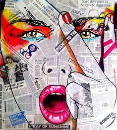 "Saatchi Online Artist: Conrad Jones; Paint 2013 Painting ""Girl With Attitude"""