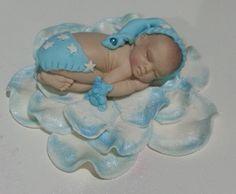 """""""Sleepy Time"""" Large Baby Boy, Cake Topper,Baby Shower/Birthday/Christening #BabyShowerChristeningBirthday"""