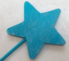 Aqua Blue Wooden Wand Party Favor (Cinderella, Frozen Elsa, Mermaid, Fairy, Princess) by TeatotsPartyPlanning on Etsy