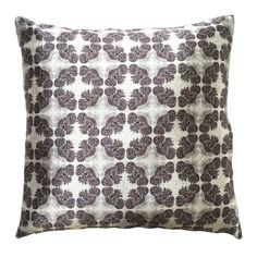 """Handmade RADOST Throw Pillow $54 * PINE CONE (WHITE) * Removable insert; washable cover * Material: Minky (100% polyester) * Dimensions: 16"""" high x 16"""" wide * Pillow cover care instructions: Machine wash cold and line dry; do not bleach."""