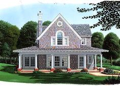 Favorite Exterior Look. Interior needs modification. i.e. upstairs master suite. Downstairs bedroom --> Office with built-ins