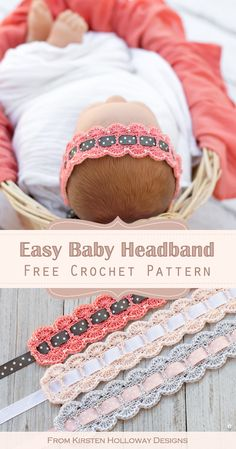 Crochet Headband Free, Bag Crochet, Thread Crochet, Love Crochet, Baby Blanket Crochet, Crochet For Kids, Crochet Crafts, Crochet Baby Hats Free Pattern, Crochet Baby Mittens