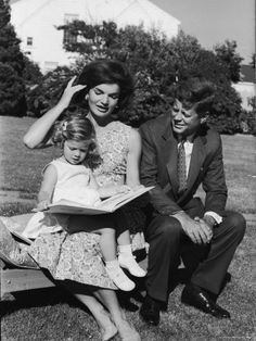 Presidential Candidate Senator Jack Kennedy with His Wife Jacqueline and Daughter Caroline