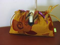 Gold and Red Ribbon Clutch for Bridesmaids or Prom by by fancibags, $30.00