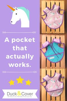 Most bib pockets are useless but not these! A unique pouch is formed when the pocket is flipped around from the back to the front and crumbs are finally saved from the floor. Find this sweet unicorn print and many more in the Duck & Cover Etsy shop. Pastel Party Decorations, Girl Baby Shower Decorations, Baby Shower Gifts For Boys, Baby Boy Shower, Baby Gifts, Stocking Stuffers For Baby, Baby Stocking, Best Baby Bibs, First Birthday Gifts