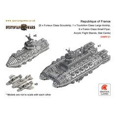 Republique of France Aerial Battle Group - Dystopian Wars - http://www.spartangames.co.uk