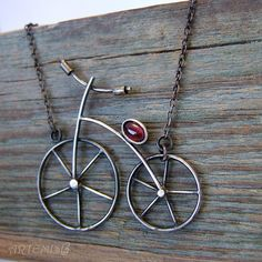 """Necklace, handmade beads. Fair Masters - handmade silver necklace """"I'll be a long drive a bicycle ..."""". Handmade."""