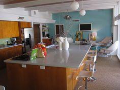 mid century kitchen