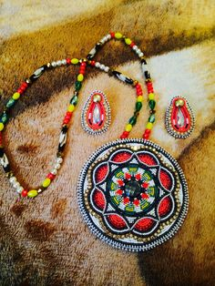 Beadwork - earring and necklace set