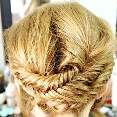 The tucked in fish tail braid...great way to hide those split ends (before you go in for a trim of course)