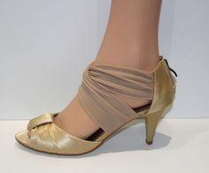 7dfdbe34dd89 Escarpins lanière lien cheville sandales chaussures femme or doré 36 37 38  39 40   eBay