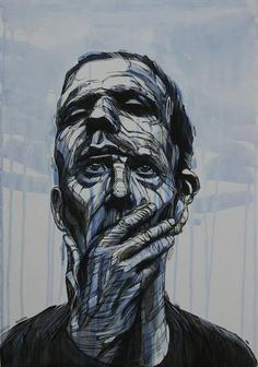 .2 faced art 3 project idea.  Photoshop self portrait, oil paint.