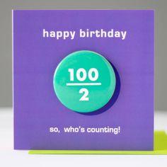 50th Birthday Cards, Happy Birthday, Badge, Gifts, Happy Brithday, Urari La Multi Ani, Happy Birthday Funny, Badges, Happy Birth