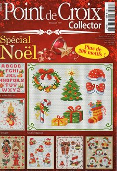 point de croix collector special noel n°8 - audrey georgel - Picasa Web Albums Cross Stitch Tree, Cross Stitch Books, Beaded Cross Stitch, Cross Stitch Charts, Cross Stitch Designs, Cross Stitch Embroidery, Cross Stitch Patterns, Cross Stitch Magazines, Cross Stitch Collection