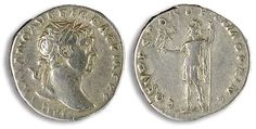 Rome 117-138, Denar, Hadrianus, Roman emperor time. Av: bust clockwise and circumscription. Rev: standing gypsy with Victoria on the arm to on the right, therefore circumscription. Ss.