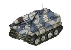 Panther style hull and tracks, from Valkyria Chronicles.