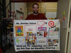 Thanks to the generosity of our local Target and this man we get lots of goodies donated for our Box Tops Shopping Store and Classroom!  Our students created some original Box Tops art to help show our appreciation.
