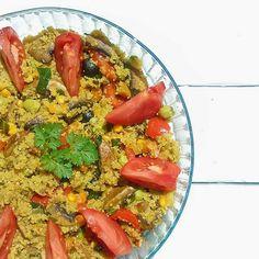 Uma receita deliciosa [e vegetariana] de couscous