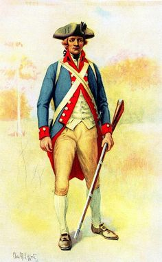 Thirteenth Regiment of the Pennsylvania Line Pennsylvania State Regiment, 1777 SOURCE: Uniforms of the Armies in the War of the American Revolution, 1775-1783. Lt. Charles M. Lefferts.