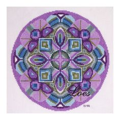 Kruissteek borduurpatroon Mandala SPIRIT door LoesManfredCreations