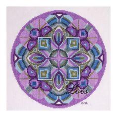 Kruissteek borduurpatroon Mandala SPIRIT door LoesManfredCreations