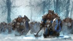 Dwarf Army by Mac-tire.deviantart.com on @DeviantArt