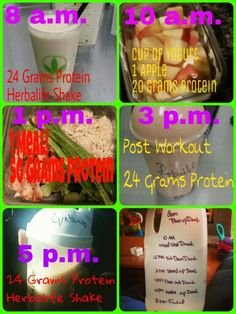 Okay I just got asked to break my day down. For the most part this is what my routine looks like. Sometimes after the 5 pm shake about 7, depending on how hard I worked during the day I will have one of our herbalife protein bars or a cup of sweet potatoes mixed with chicken. Usually when I get hungry I'm missing water or protein. If you feel hungry remember it's mind over matter. Not everyone's meal plan is the same! If you need help contact me! #herbalife #contactme email :cynherbaluna@Gmail.c