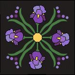 Iris Wreath-- this would be a really pretty barn quilt