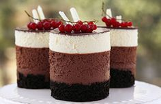 Sunshine Kitchen's Triple Chocolate Mousse Cakes. Check out Bake it Forward's ethical baking supplies pinboard for ingredients! http://pinterest.com/bakeitforward/ethical-baking-products/