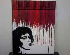 Rocky Horror Picture Show Melted Crayon Painting Art