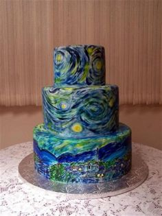Starry Starry Night birthday cake.
