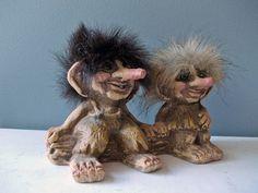 Vintage Trolls Nyform Norway 175 Trolls On A by HippopoVintage, $28.00