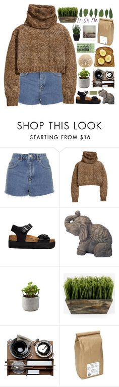 """loose knit sweaters"" by softenedpressures ❤ liked on Polyvore featuring Topshop, H&M, Truffle, Malle W. Trousseau, Davidson's, Lux-Art Silks, Polaroid and country"