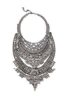 Falkor tribal bib statement necklace/bib