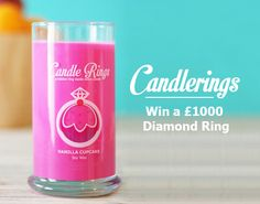 Win a £ 1000 Diamond ring with Candlerings Candle Rings, Jewelry Candles, Beautiful Candles, Best Candles, Competition Time, Thing 1, Candle Lanterns, Wow Products