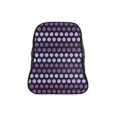 Custom bags, shoes and My Fb, Custom Bags, School Backpacks, Purple And Black, Color Change, Polka Dots, Model, Stuff To Buy, School Bags
